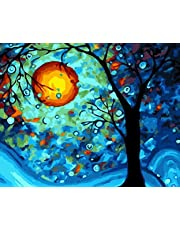 [WOODEN FRAME] Paint by Numbers Kits for Adults Children Seniors Junior Beginner Acrylics Diy oil Painting Kits - Dream Tree by Van Gogh 16x20 Inch