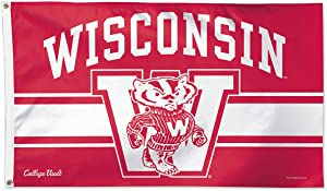 University of Wisconsin Throwback Vintage 3x5 College Flag