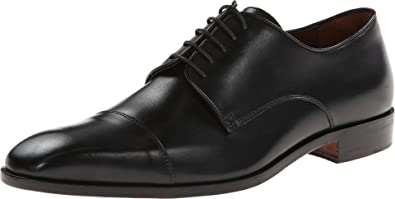 Massimo Matteo Mens 5Eye Cap Toe Black Oxford 7 D