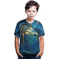Poywuo Niños Camisa de Monstruo de Dibujos Animados Camiseta para niños Camisa de impresión 3D para niño niña Verano…