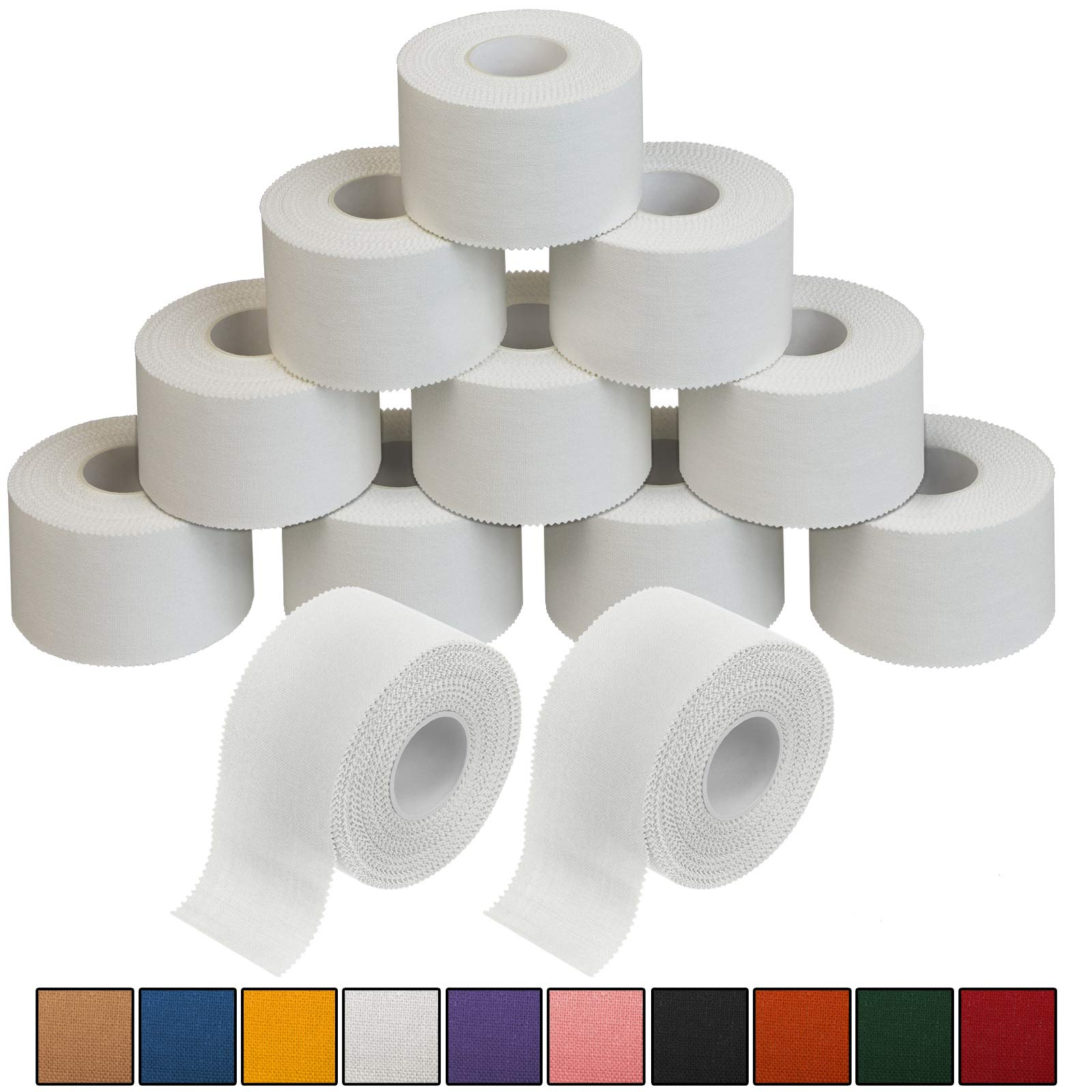 ALPIDEX 12 x Sports Tape 10 m x 3.8 cm zinc oxide tape finger tape