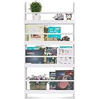 Homfa Estantería de pared de libros con 4