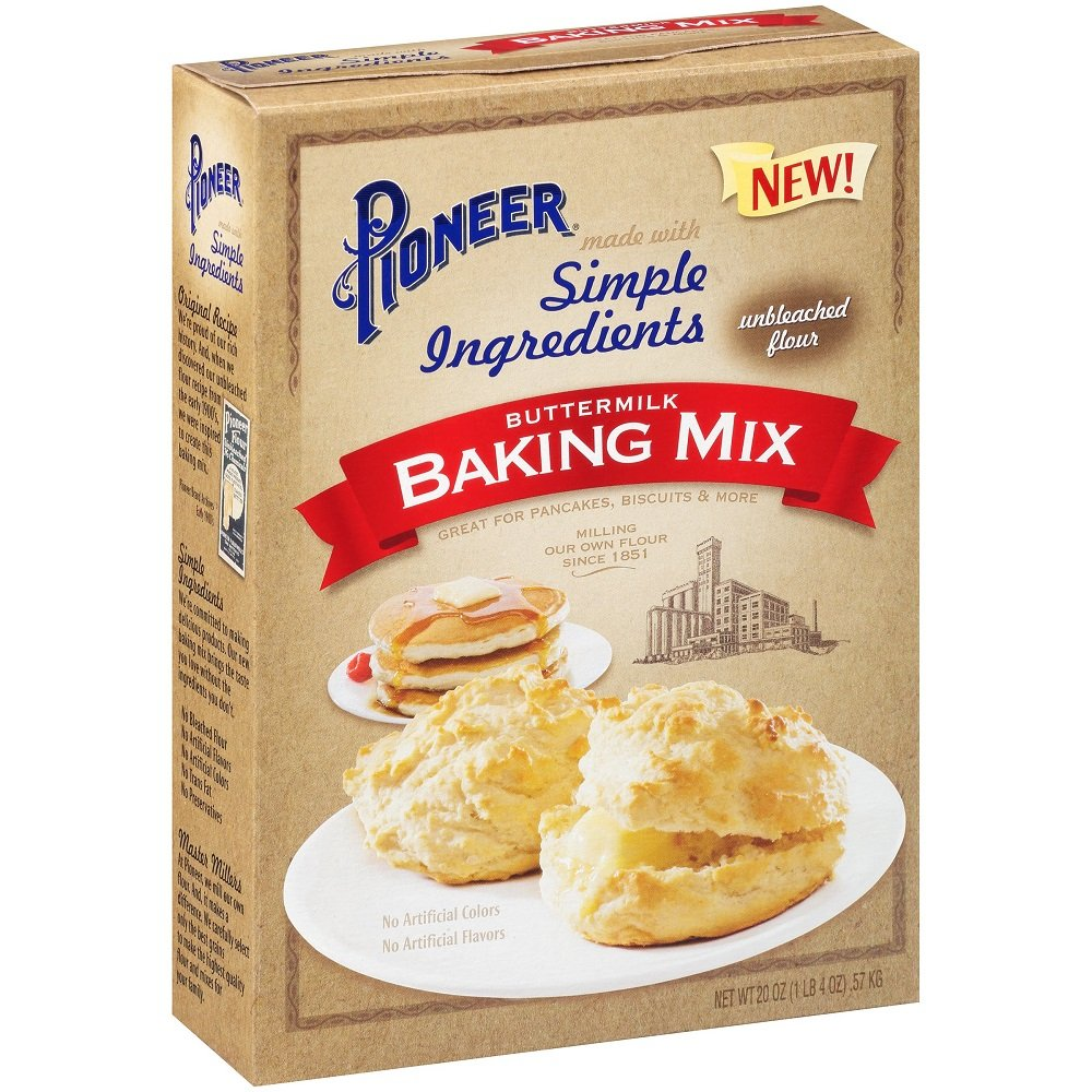 Pioneer Simple Ingredients Buttermilk Baking Mix 20 Oz. Box ● (Pack of 2)