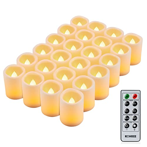 kohree led flameless candles tea lights electric christmas candles battery powered candles with remote control timer - Electric Christmas Candles