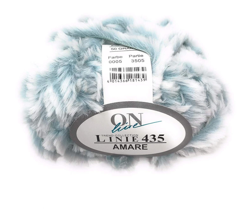 LINIE 435 AMARE 50g von Online superweiches pelzoptik Garn alle Farben