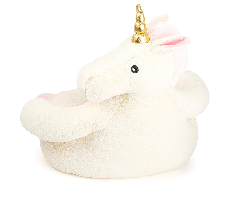 in Tessuto Small Foot 11400 Pouf Unicorno Multicolore Normale Poltrona per Bambini nel Design di Tendenza Decorazione