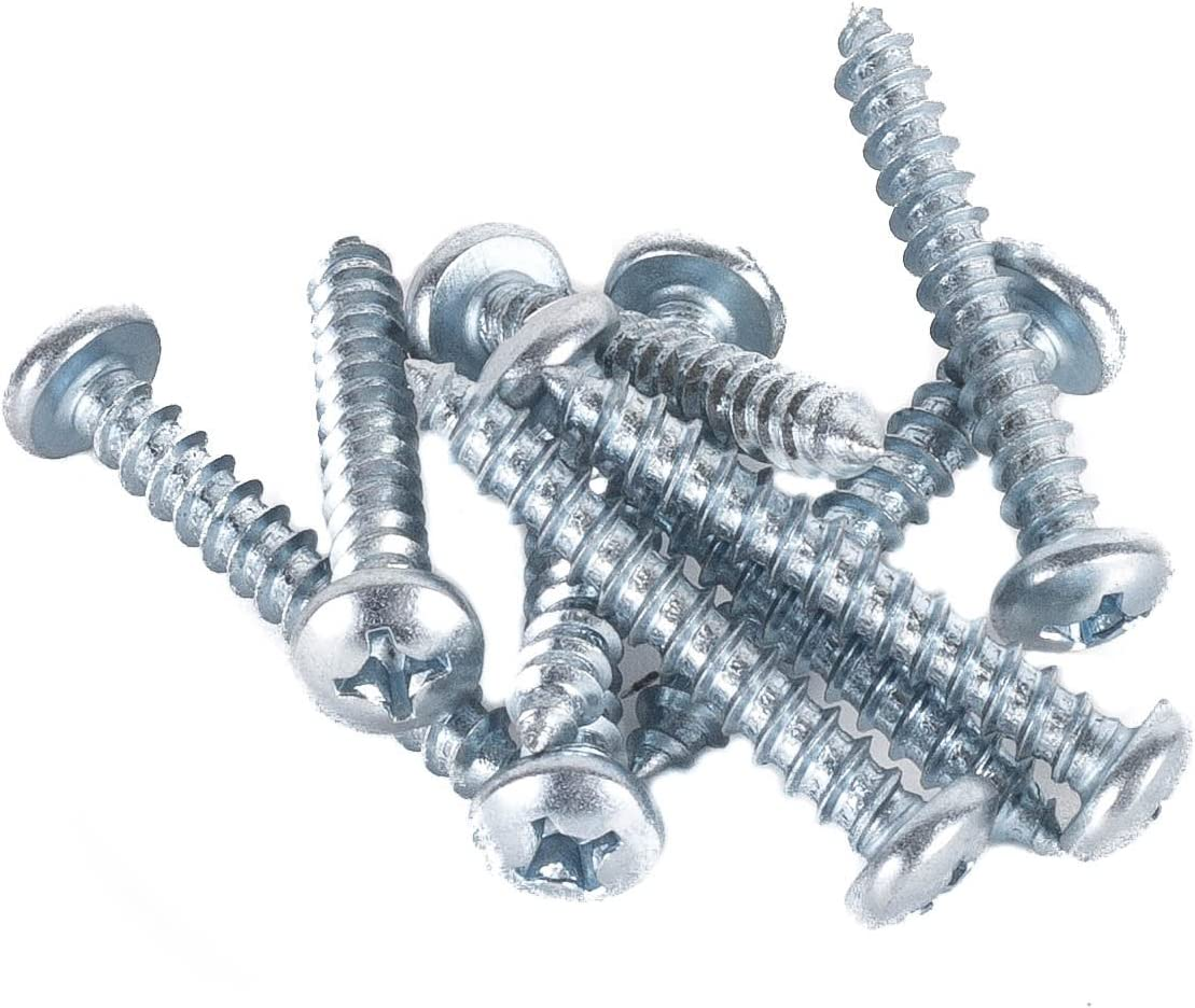 1.5 Inch Long Round Phillip Head Wood Screws DC Cargo Mall E Track Trailer Tie-Down Rail Mounting Hardware Kit 10 Pack