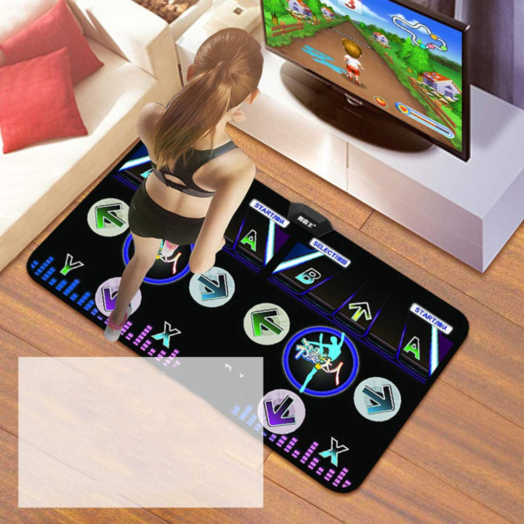 WEWE Wireless Dance Pad,Double Dance Mat Children Gift Dancing Step Musical Mat Dance Revolution Hd Tv Computer Dual- Foldable-a 166x93cm(65x37inch)
