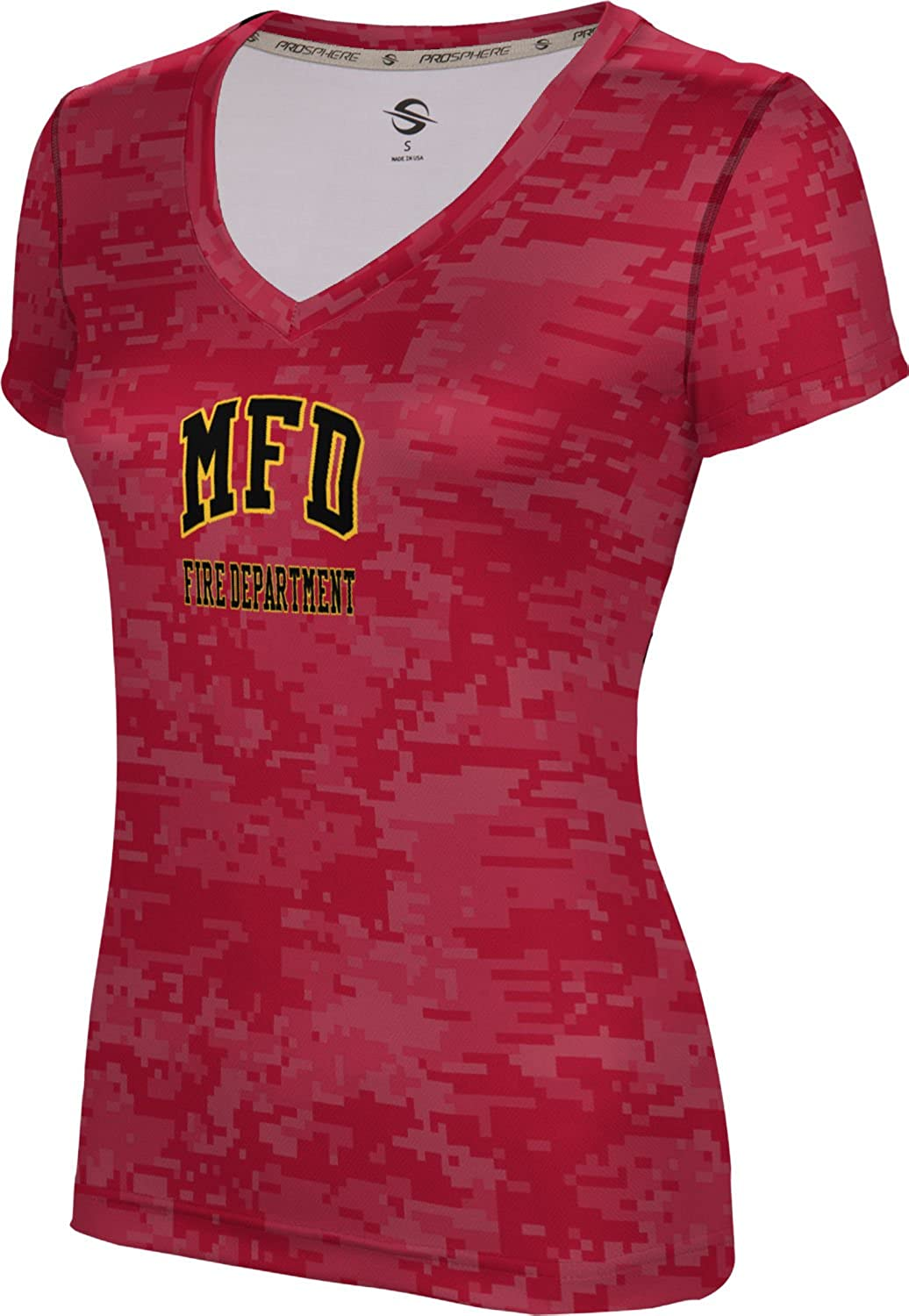 ProSphere Women's Meridian Fire Department Digital SL V-Neck Training Tee