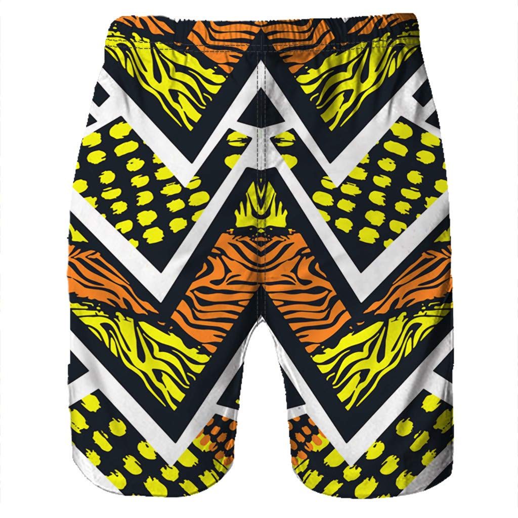 NUWFOR Men Casual 3D Graffiti Printed Beach Work Casual Men Short Trouser Shorts Pants(Z5-Multi Color,US:S Waist26.0-29.9'') by NUWFOR (Image #3)