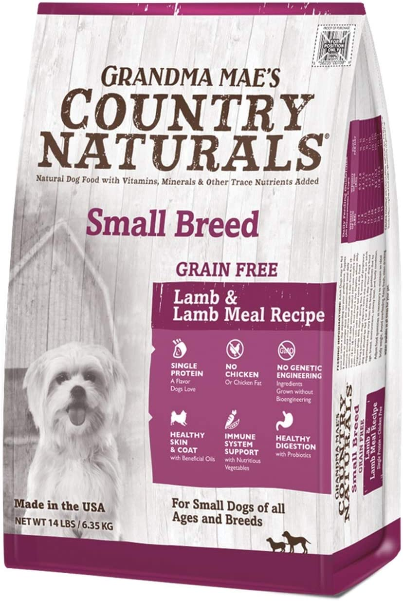 Country Naturals Grandma Mae s Grain Free Single Protein Lamb Recipe for Small Breeds, 14 Pound Bag