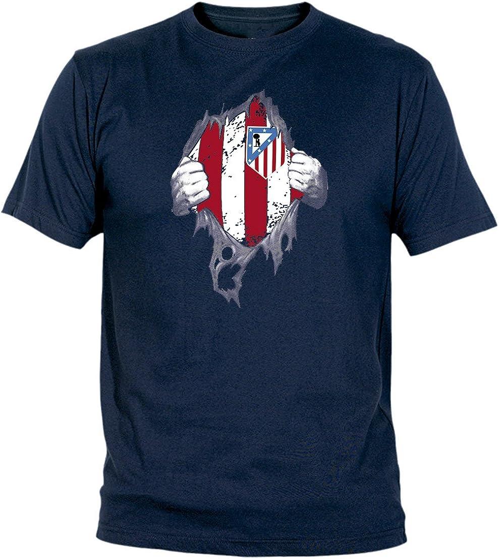 Desconocido Camiseta El Atleti En El Corazón Adulto/niño Camisetas del Atleti colchoneras ATM rojiblanco