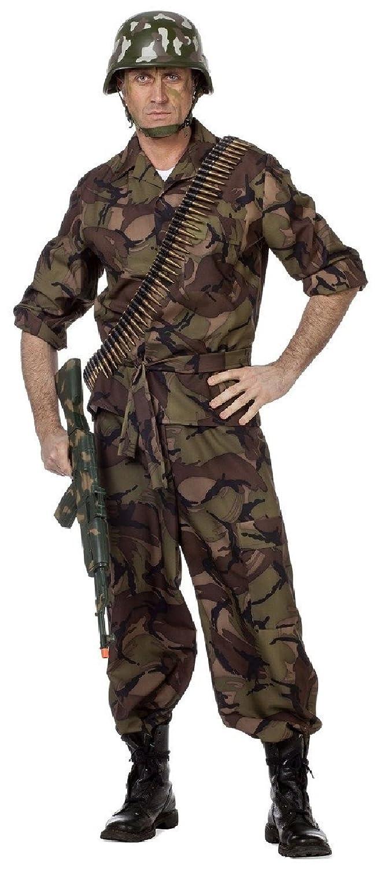 W5104-56 camouflage Herren Soldatenkostüm Armeekostüm Gr.56 B076PVD9Z1 Kostüme für Erwachsene Fuxin | Vielfalt