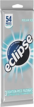 3-Pack Eclipse Polar Ice Sugarfree Chewing Gum