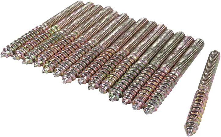 1 mm Pas M6 x 40 mm avec tige filet/ée de couleur Bronze 6 pi/èces