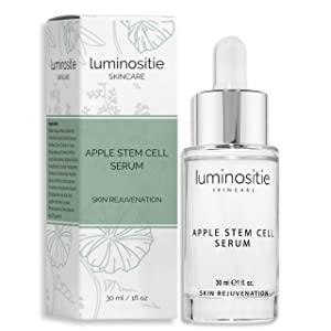 Swiss Apple Stem Cell Face Serum - Skin Cell Renewal Therapy | Anti Wrinkle, Anti Aging Skin Serum W/Malus Domestica (1oz)