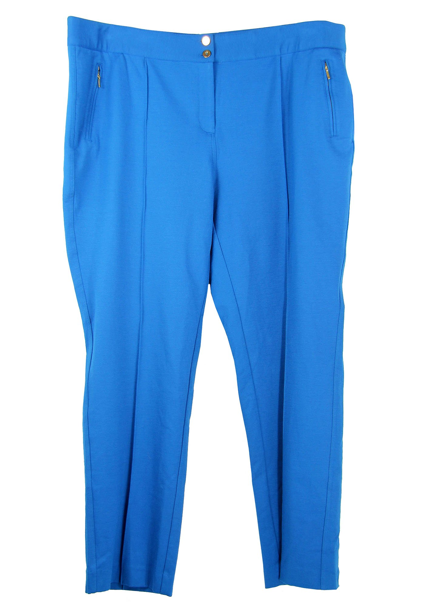 Alfani Women's Plus Comfort Waist Zipper Detail Casual Pants (24w, London Blue)