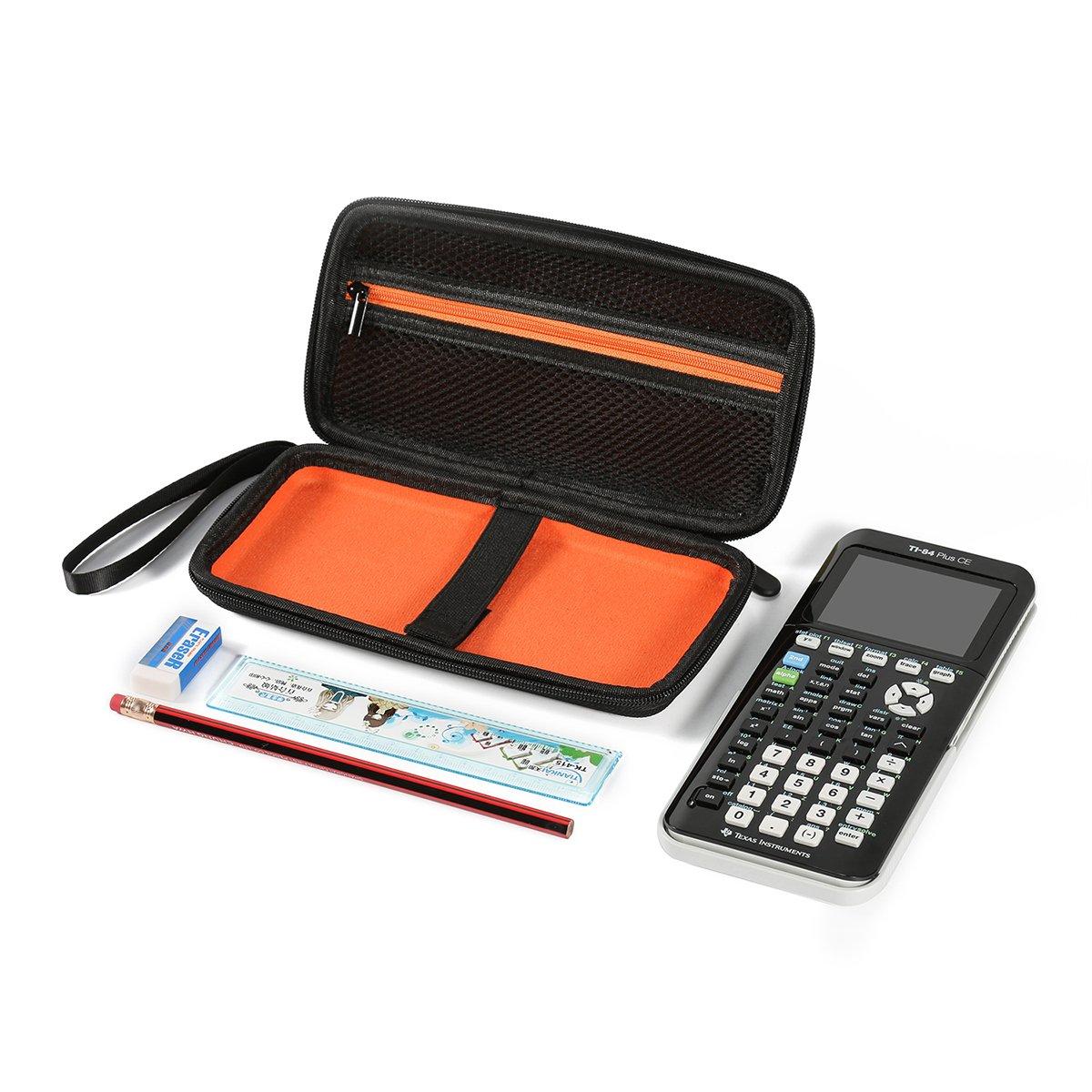 Plus CE dure EVA transportant bo/îtier de rangement voyage affaire sac pochette de protection antichoc Pixnor /à une repr/ésentation graphique calculatrice Texas Instruments TI-84