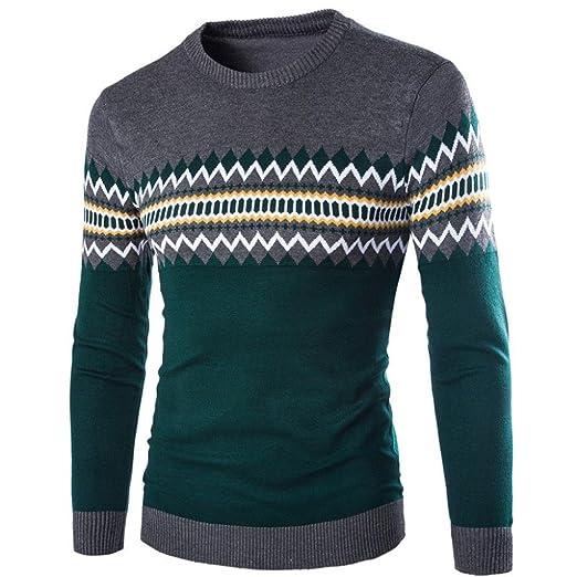 Suéter de hombre Invierno Manga larga Suéter casual Jersey de punto caliente Sudaderas de moda masculina LMMVP (L, Amarillo): Amazon.es: Industria, ...