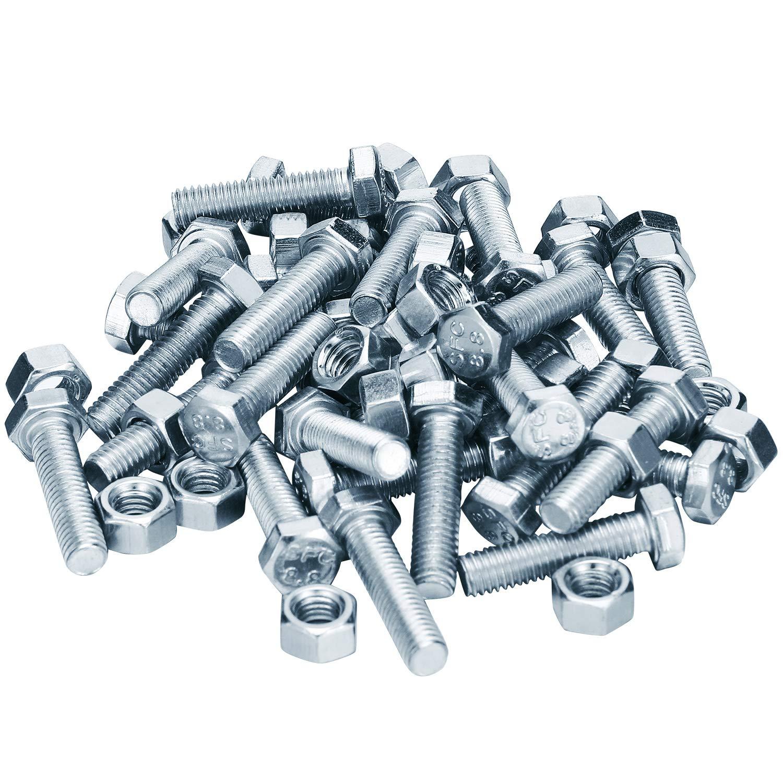 30 S/ätze Auger Shear Pins Bolzen und Muttern Stahl Metall Bolzen Muttern Kompatibel mit Honda Schneefr/äse HS1132 HS624 HS828 HS928 HS724