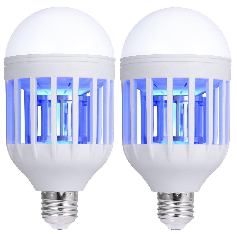 2Pcs Electronic Insect Killer Bulb, Bug Zapper Light Bulb, Mosquito Killer Lamp, Mosquito Zapper, Fly Killer Bulb, Mosquito Trap, Fits 110v Light Bulb Socket (2)