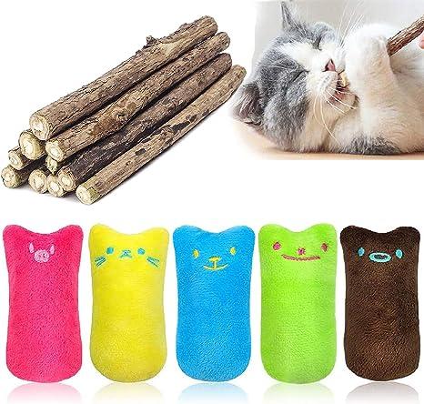 You/&Lemon 5PCS Juguetes Catnip Hierba Gatera Juguete Juguetes del Catnip Juguetes Creativos para Masticar Almohadas para Gatos