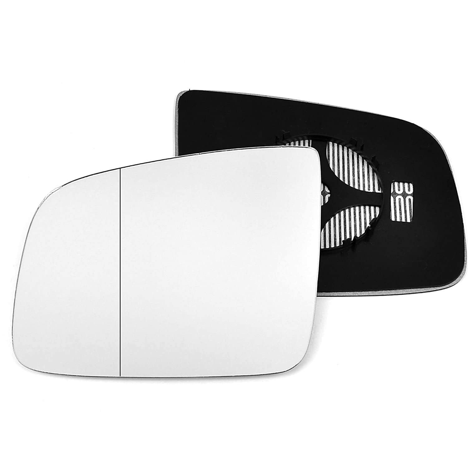 Clip On Passenger left hand side Heated wing door Silver mirror glass with backing plate #W-SHY//L-MSVO11