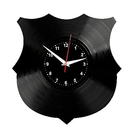 Barcelona Reloj de Pared Vinilo Tocadiscos Retro de Reloj Grande Relojes Style habitación Home Decoración Crédito