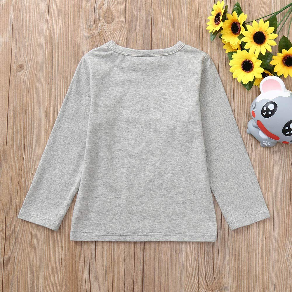 Baby Boy Letter Print T-Shirt Cool Strratwear Long Sleeves Pullover Toddler Autumn Undershirt Outfits for 2-7 Years Old Kid Little Boys Girls Sweatshirt Blouses