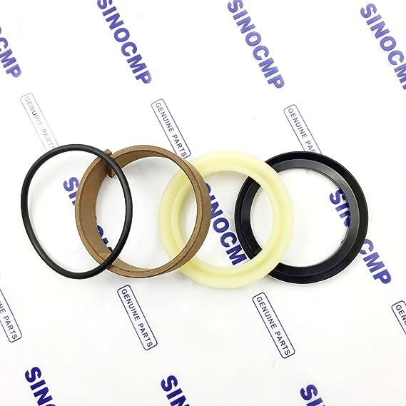 SINOCMP Seal Kits for Hitachi EX60-2 Excavator Parts 3 Month Warranty EX60-2 Track Adjuster ADJ Seal Kit
