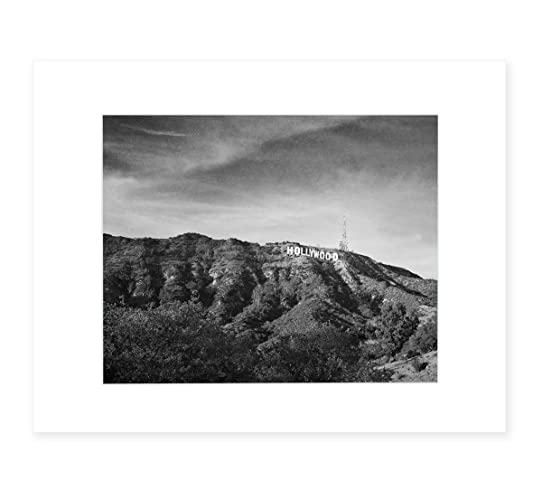 Hollywood Sign Black And White Vintage Wall Art Tinseltown Landscape Decor 8x10 Matted Print