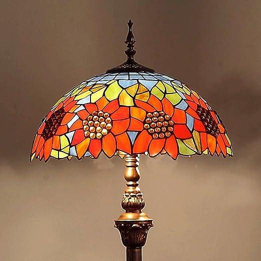 Lámpara de pie 16 Pulgadas Girasol Europea Jardín Dormitorio Sala de Estar Creativa Regalos de Moda Iluminación Decoración lámpara de Sala de Estar: Amazon.es: Hogar