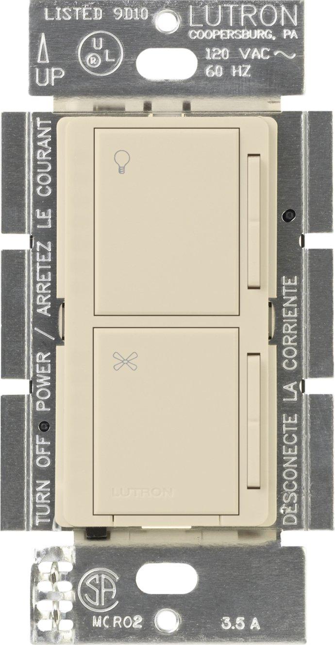 Lutron MA-ALFQ35-ES Maestro Multi-Location Digital Companion Dimmer and Quiet Fan Control, Eggshell