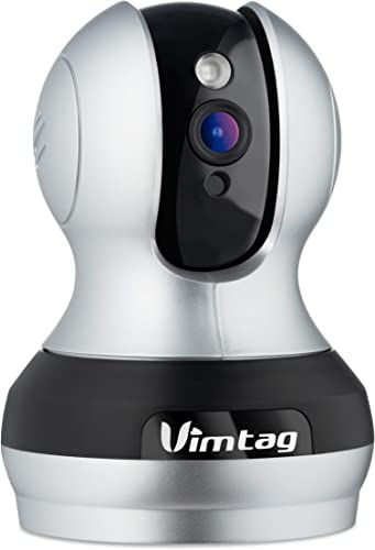 Vimtag VT-362 Smart IP Cloud Surveillance Camera – Wireless 24 Hour Monitoring with Pan and Tilt – 2 Way Audio – Supports Alexa