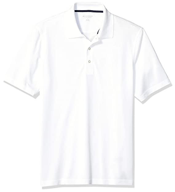 6fc4e7dd8d30a Amazon Essentials Men's Regular-Fit Quick Dry Golf Polo Shirt