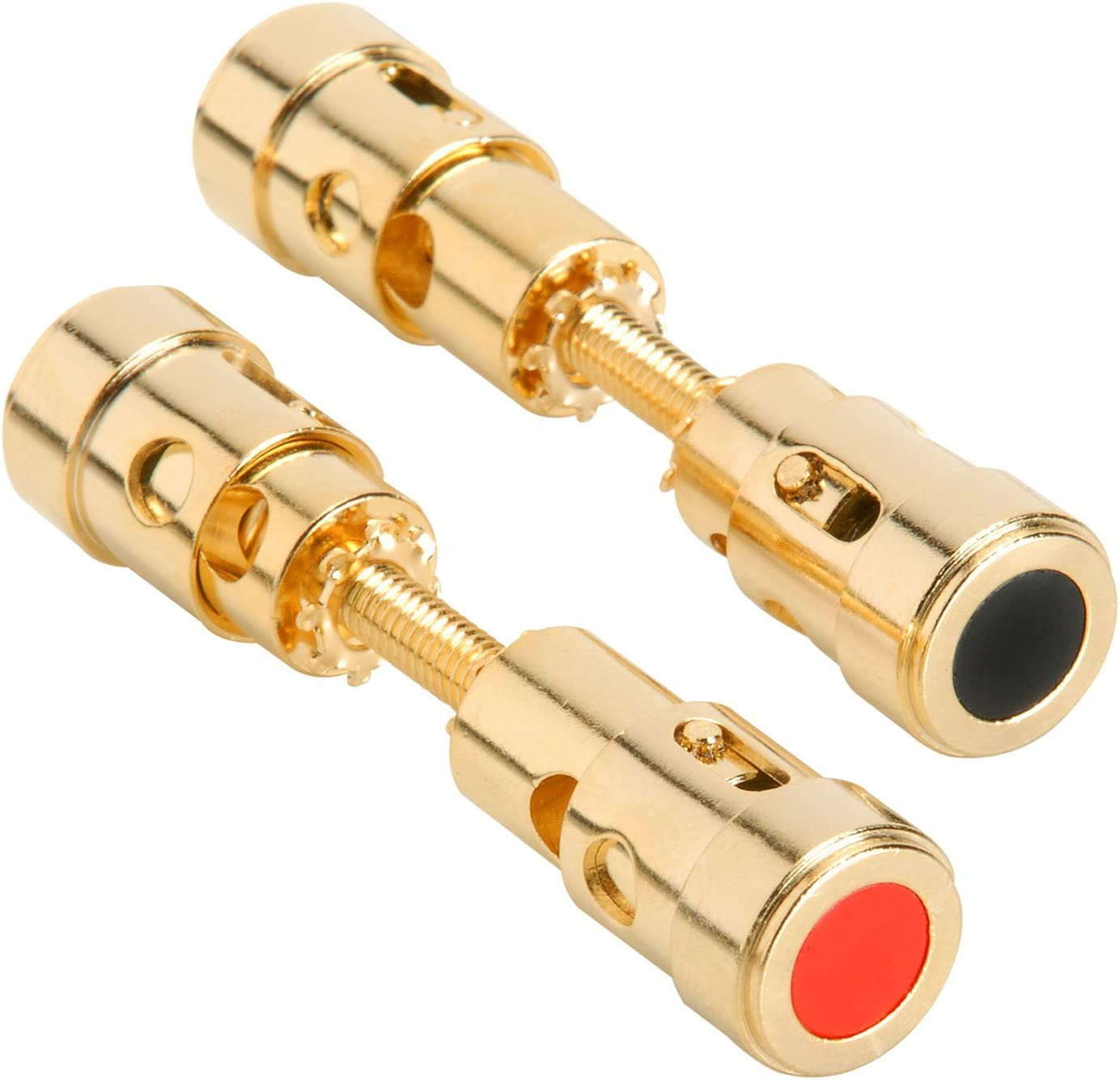 DUAL GOLD PLATED SPEAKER//SUB TERMINAL BANANA PLUG JACK UP TO 8 GAUGE WIRE