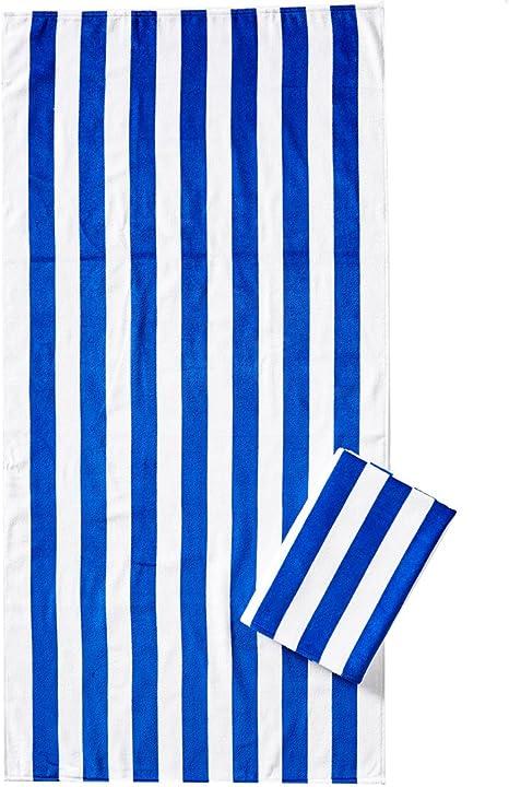 "Pk Pink Red /& Blue Stripes /& Red W// Pink Dots Beach Towel Set 30/""x60/"" NEW 2"