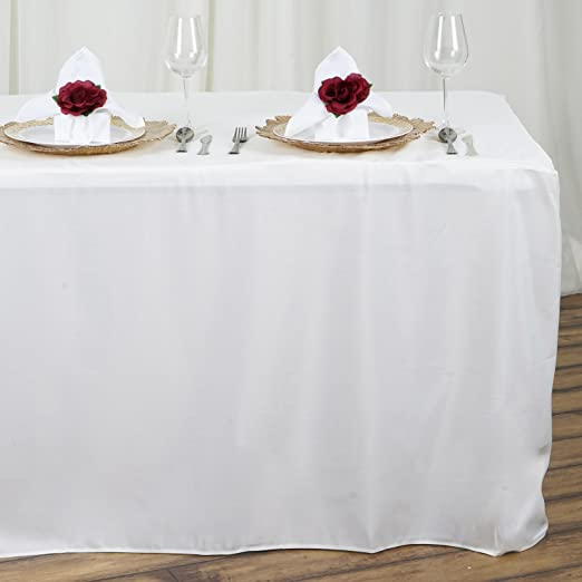 """IVORY 60x102/"""" RECTANGLE POLYESTER TABLECLOTH Wedding Party Catering Kitchen"""