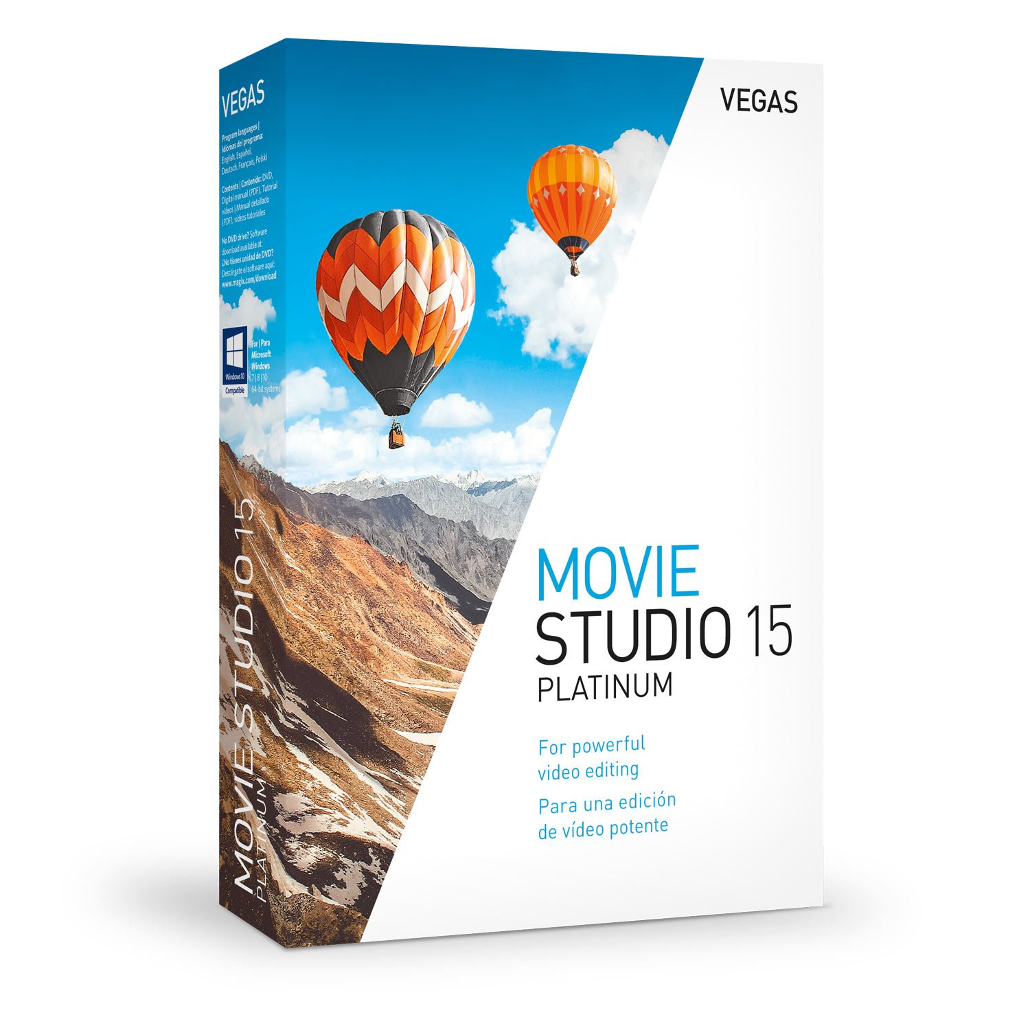 VEGAS Movie Studio 15 Platinum - Powerful Tools For Video Editing by Vegas
