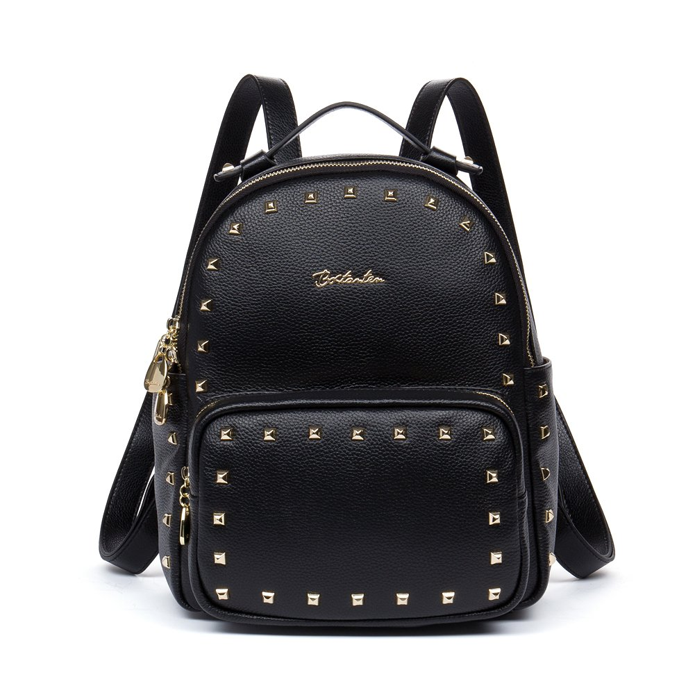 Buy BOSTANTEN Women s Leather Backpack Purse Satchel School Bag Pack for  College Black Online at Low Prices in India - Amazon.in 1724e3dfd9aab