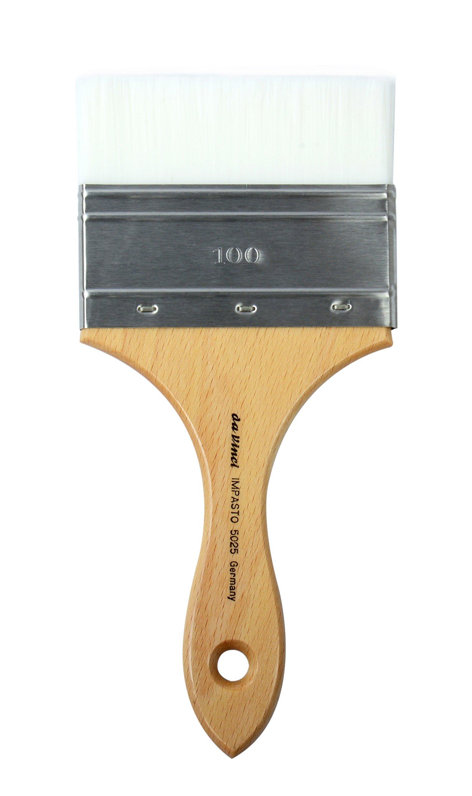 da Vinci Oil & Acrylic Series 5025 Impasto Paint Brush, Mottler Extra Stiff White Synthetic, Size 100