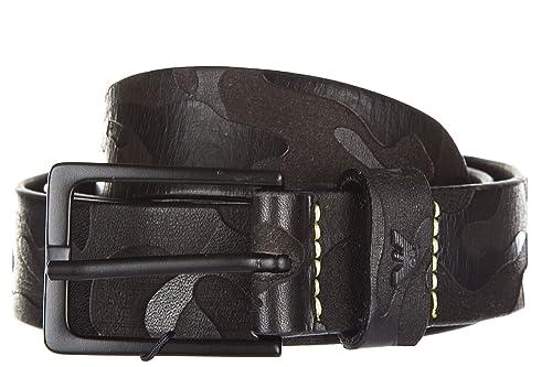 Armani Jeans cinturón de hombre en piel nuevo ardiglione negro EU 85 931062  7P805 46820  Amazon.es  Zapatos y complementos 7d3a0584e7e3