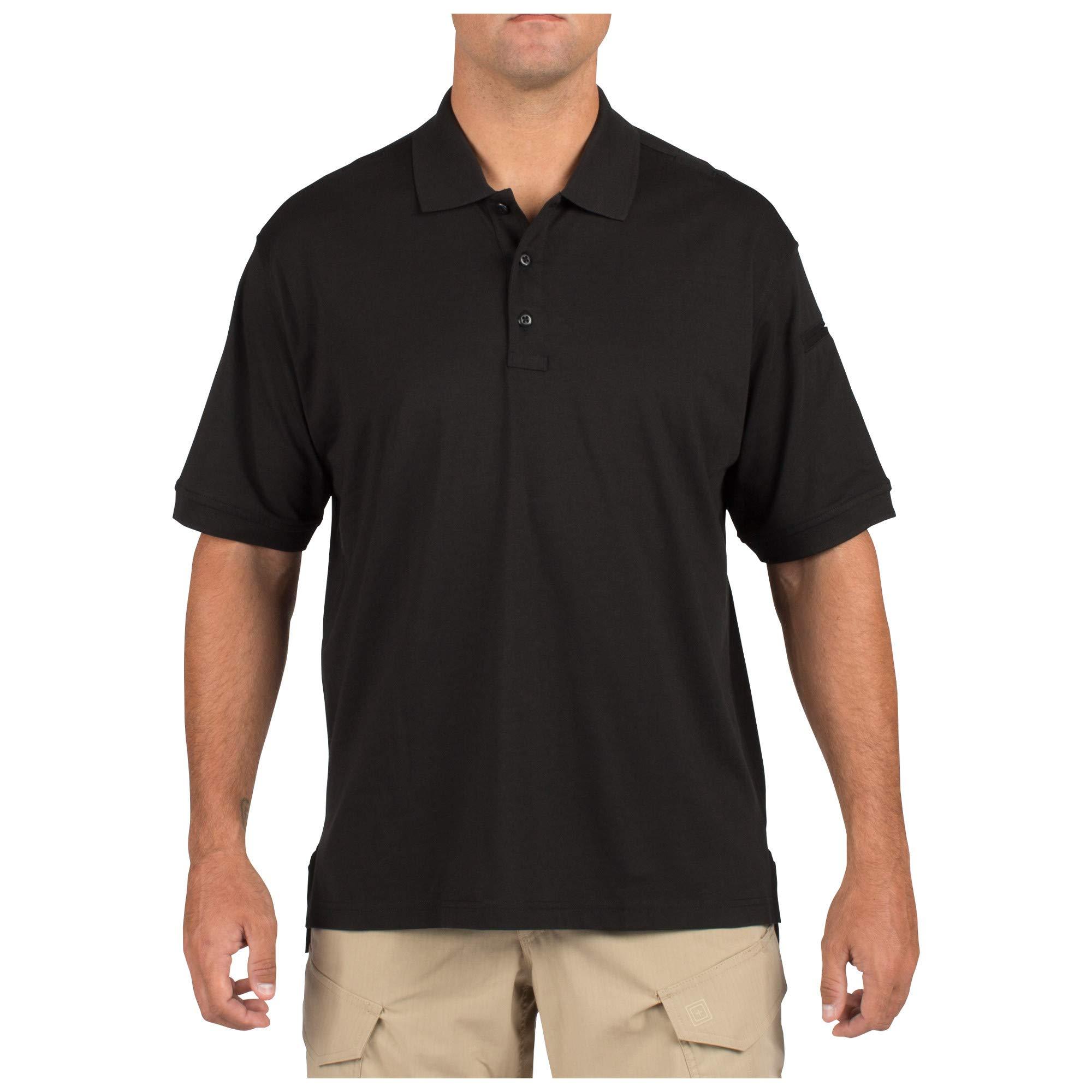 5.11 Tactical Tactical Short-Sleeve Polo, Black, Small