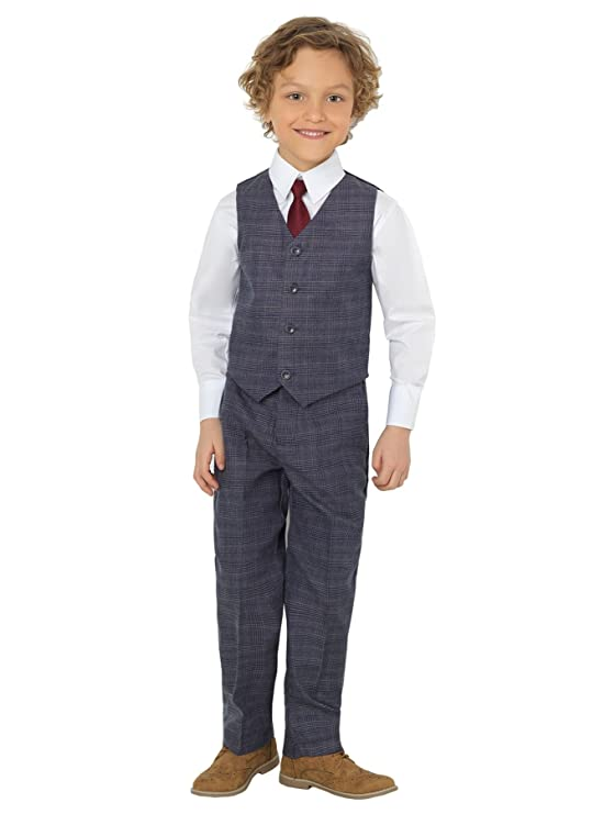 Victorian Kids Costumes & Shoes- Girls, Boys, Baby, Toddler Shiny Penny Boys Suits Page boy Suits Waistcoat Suits 3 Months - 8 Years £24.99 AT vintagedancer.com