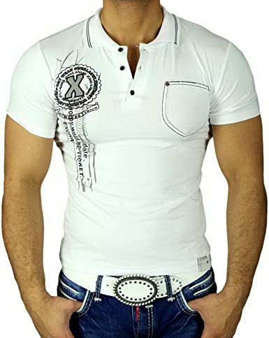 baxboy Hombre Camisa geiles Party Club Manga Corta Polo Camiseta ...