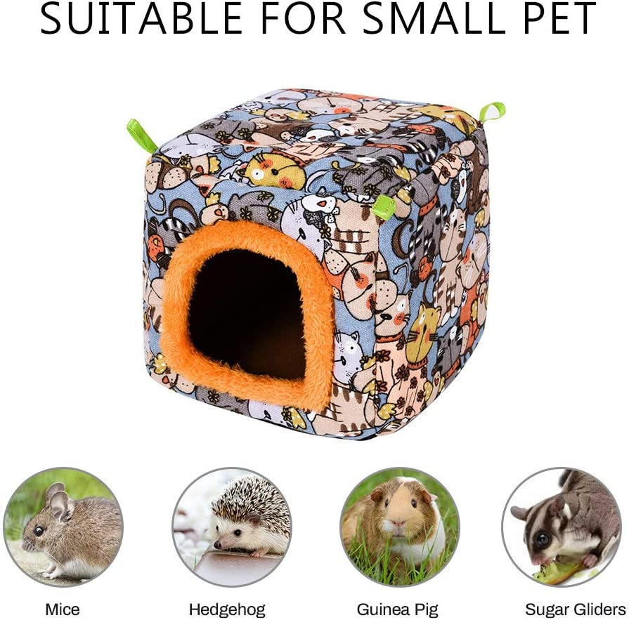 Big Hanging House for Chinchilla Bunny Small Animal Cage Warm Hideout Cave Bed SAWMONG Guinea Pig Christmas Bed