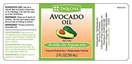 De La Cruz Sweet Almond Oil + Castor Oil + Avocado Oil (THREE 2 FL. OZ. BOTTLES): Amazon.com: Grocery & Gourmet Food