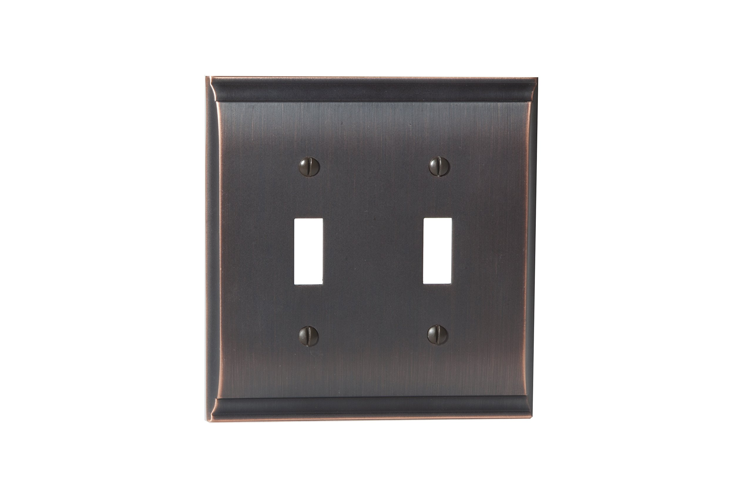 Amerock BP36501ORB Candler 2 Toggle Wall Plate - Oil-Rubbed Bronze by Amerock