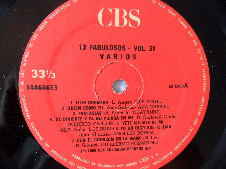 FABULOSOS TRECE-VOL.31 VARIOS RAPHEL-CHAYANNE--PLACIDO-OTROS CBS 1990 LP - FABULOSOS TRECE-VOL.31 VARIOS RAPHEL-CHAYANNE--PLACIDO-OTROS CBS 1990 LP ...