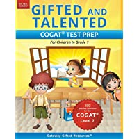 Gifted and Talented COGAT Test Prep: Gifted Test Prep Book for the COGAT Level 7; Workbook for Children in Grade 1